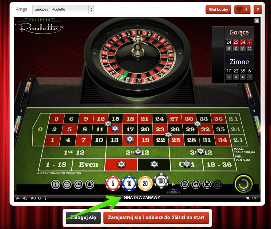 Darmowa ruletka w internetowym kasynie Kasyno.pl
